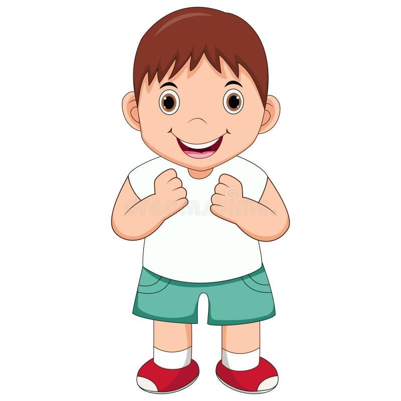 lycklig pojketecknad film stock illustrationer