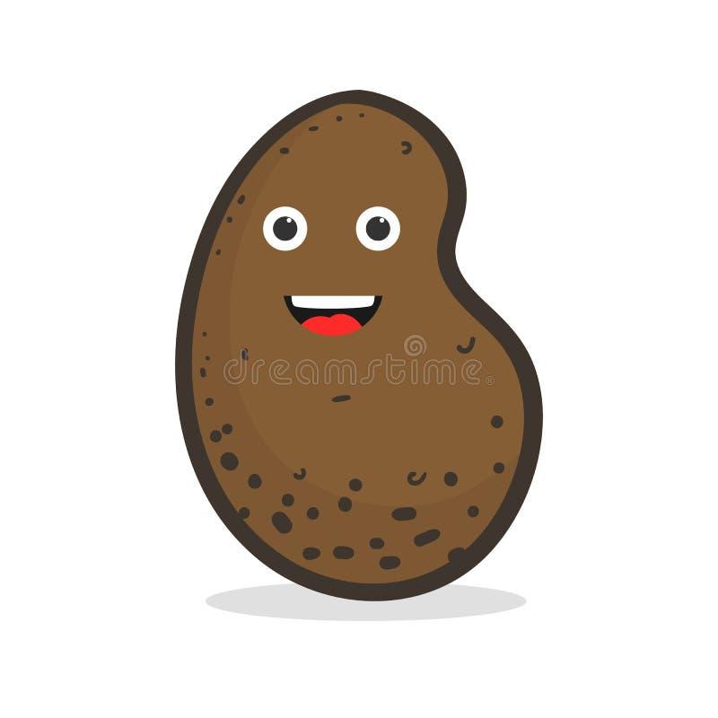 Lycklig potatis för gullig tecknad film royaltyfri illustrationer