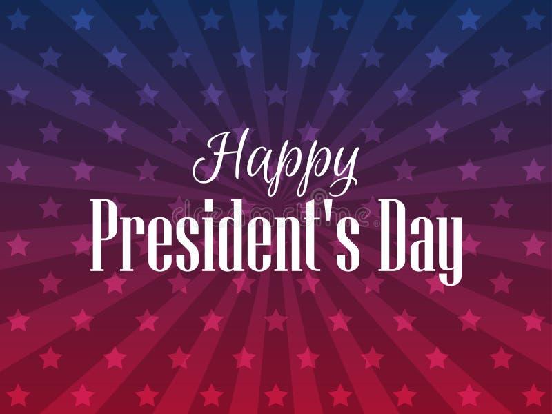 Lycklig presidentdag Festligt baner med amerikanska flaggan och text vektor stock illustrationer