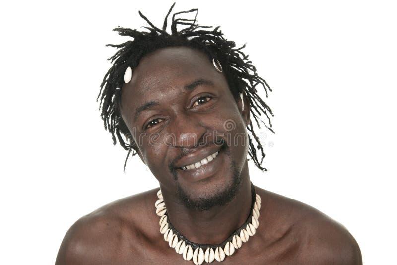 Lycklig rolig afrikansk amerikanmanheadshot royaltyfri foto