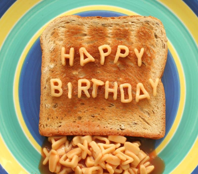 lycklig rostat bröd för födelsedag royaltyfri bild