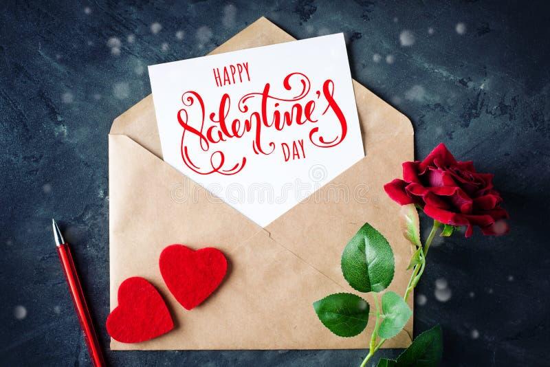 lycklig s valentin för dag Lyckönsknings- bakgrund vid dag för St-valentin` s arkivbild