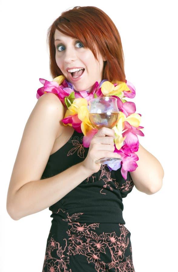Lycklig semesterfirare för ung kvinna royaltyfria bilder