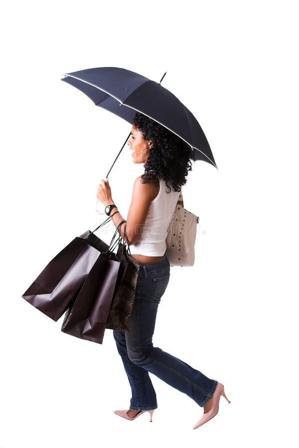 lycklig shoppare royaltyfri bild