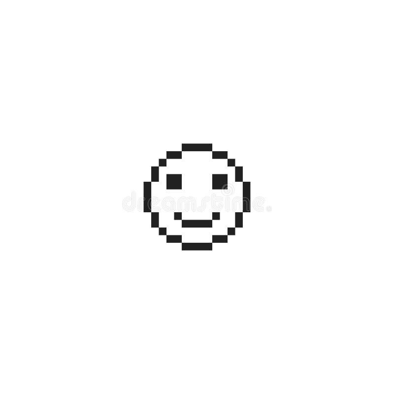 Lycklig sinnesrörelseframsida för PIXEL royaltyfri illustrationer