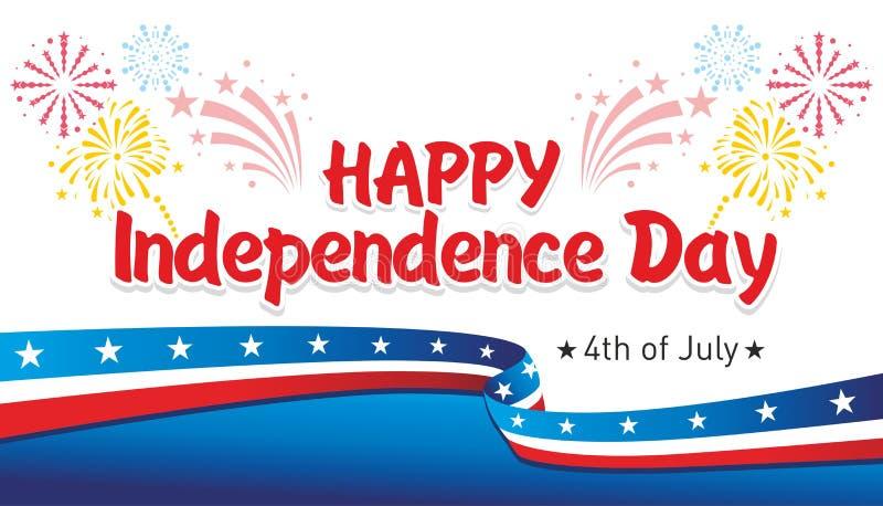 lycklig självständighet för dag stock illustrationer