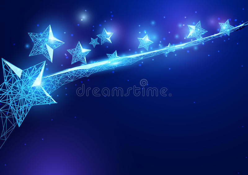 lycklig självständighet för dag stjärnaform av en stjärnklar himmel stock illustrationer