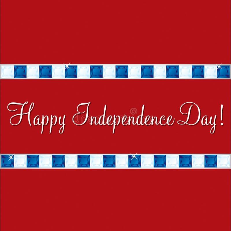 Lycklig självständighetsdagen! royaltyfri illustrationer