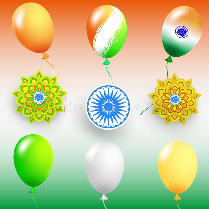 Lycklig självständighetsdagen Indien, vektorillustration, reklambladdesign för 15th Augusti royaltyfri illustrationer