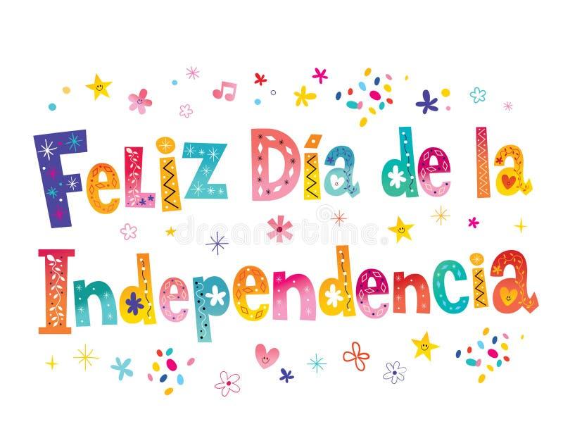 Lycklig sj?lvst?ndighetsdagen i spanjor royaltyfri illustrationer