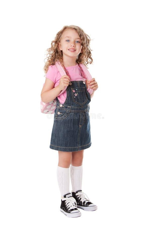 lycklig skola för flicka royaltyfri bild
