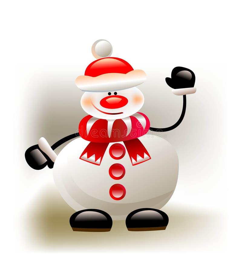 Lycklig snögubbe royaltyfri illustrationer