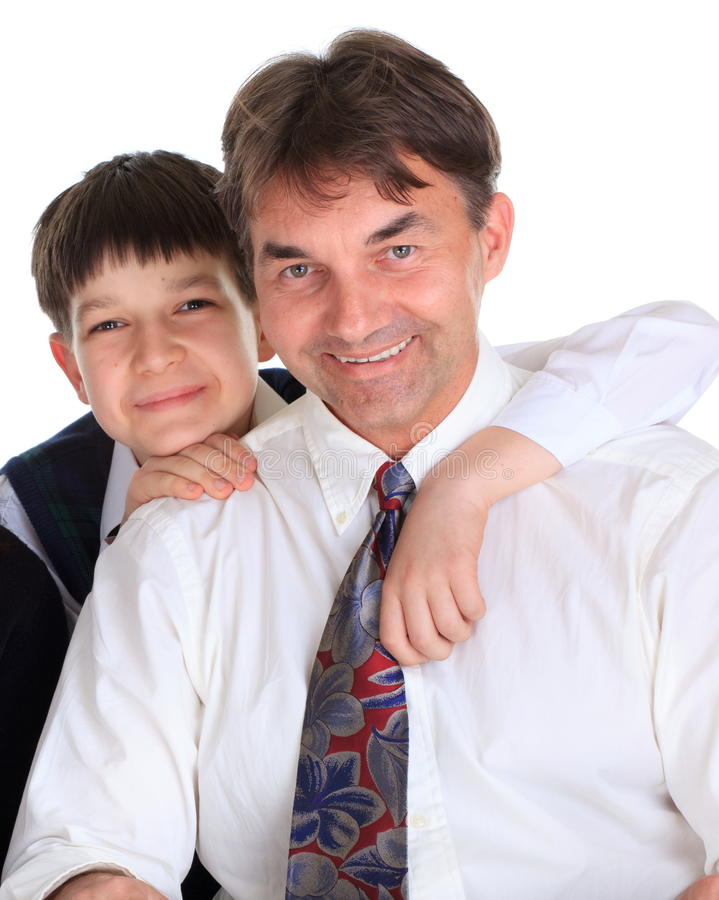 lycklig son för fader royaltyfria bilder