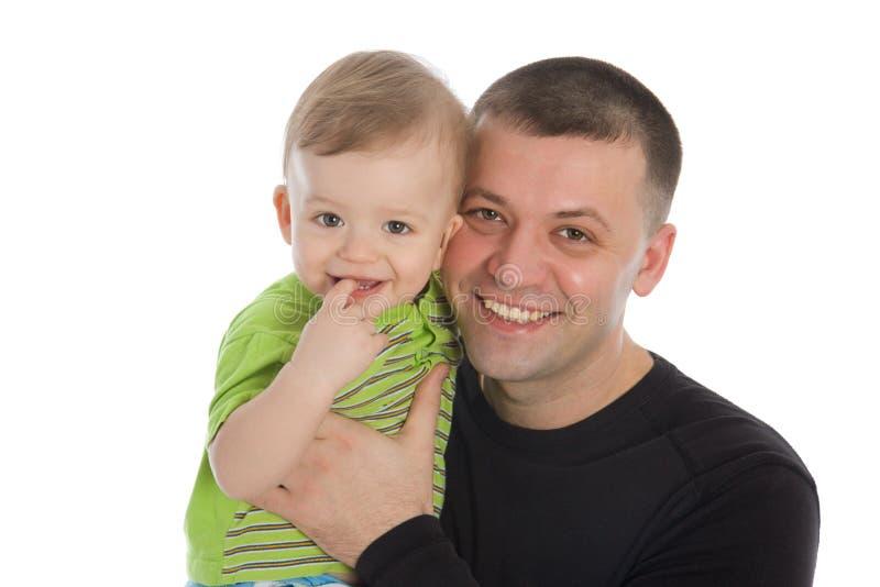 lycklig son för fader royaltyfri fotografi