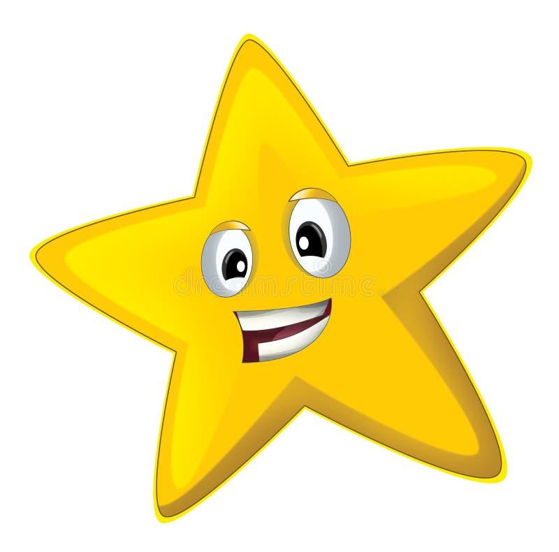 Lycklig stjärna för tecknad film - royaltyfri illustrationer