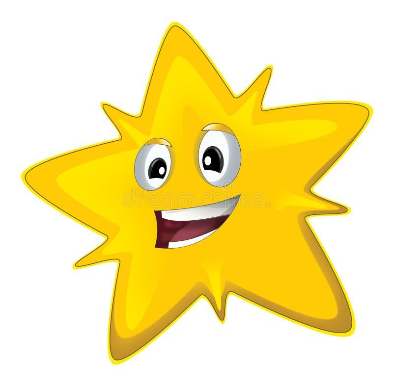 Lycklig stjärna för tecknad film - vektor illustrationer