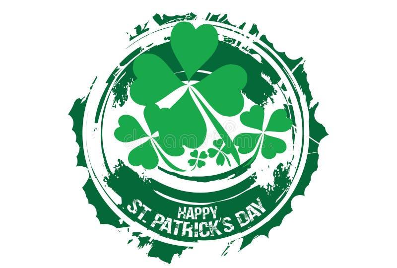 Lycklig Sts Patrick dagdesign arkivbild