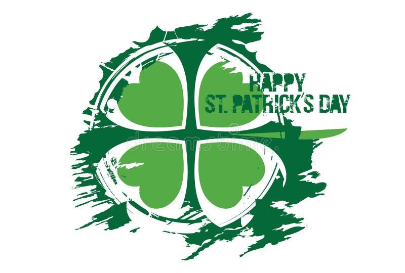 Lycklig Sts Patrick dagdesign royaltyfri foto