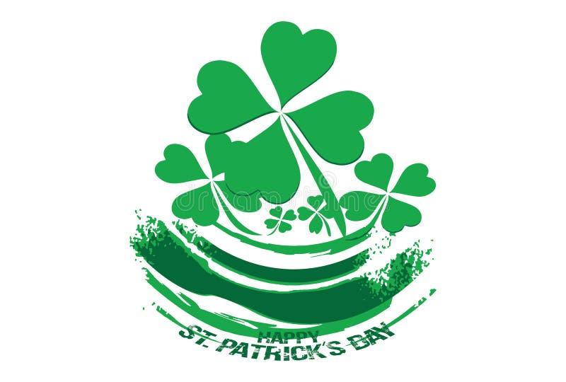 Lycklig Sts Patrick dagdesign arkivfoton