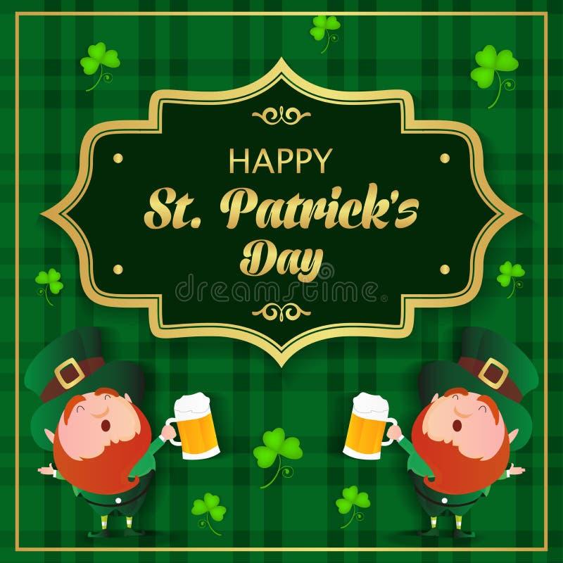 Lycklig Sts Patrick vektor för dagbakgrund royaltyfria bilder