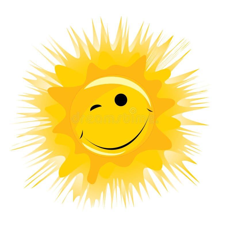 lycklig sunvektor vektor illustrationer