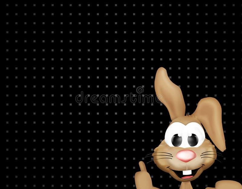 Lycklig svart för den easter kaninen pricker bakgrund stock illustrationer