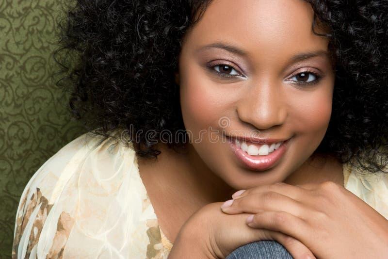 lycklig svart flicka royaltyfria bilder