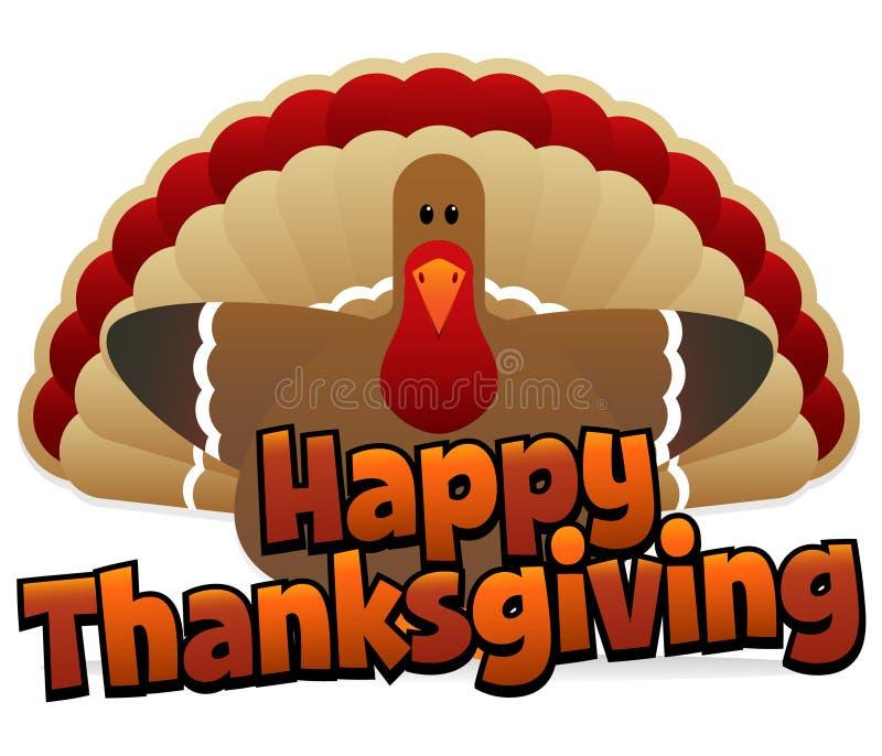 lycklig tacksägelse vektor illustrationer