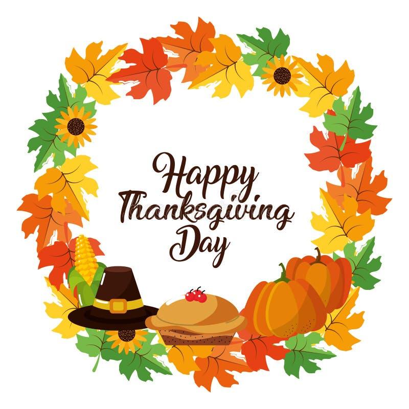 Lycklig tacksägelsedagdesign vektor illustrationer