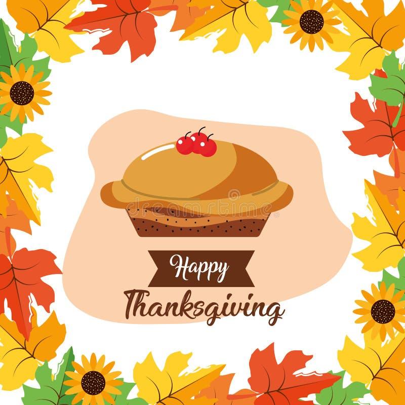 Lycklig tacksägelsedagdesign royaltyfri illustrationer