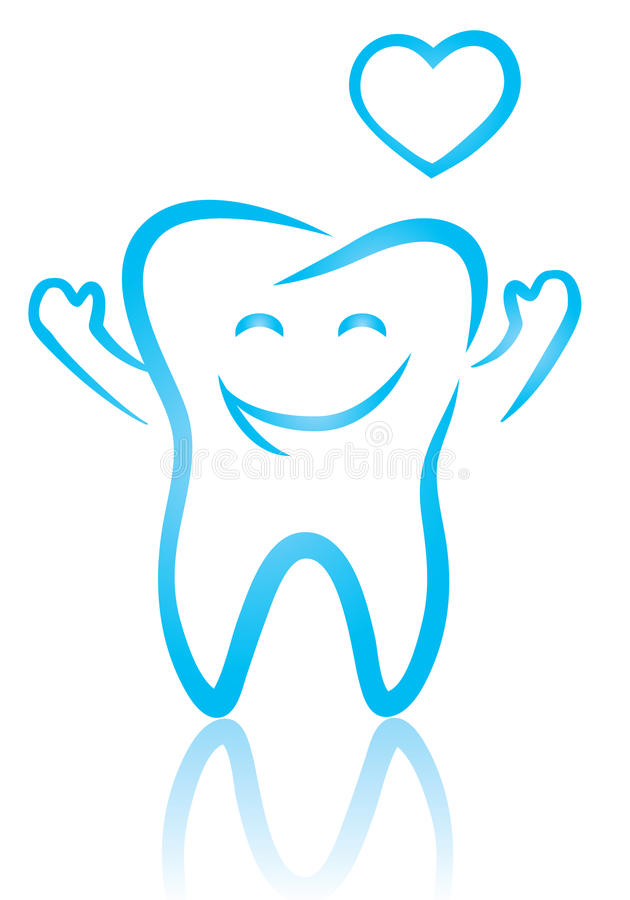 Lycklig tand vektor illustrationer