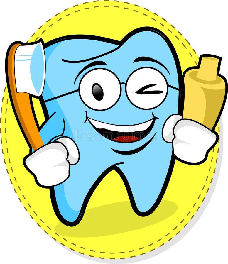 lycklig tand stock illustrationer