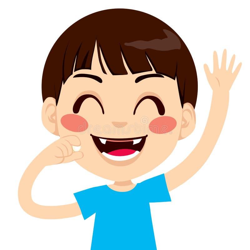 Lycklig tandlös pojke royaltyfri illustrationer