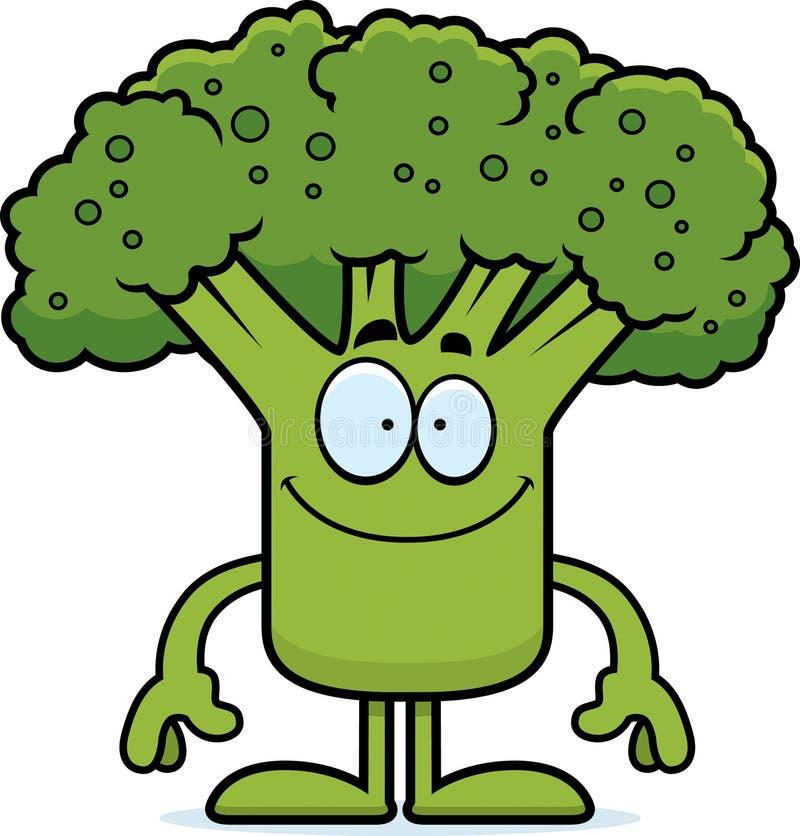 Lycklig tecknad filmbroccoli vektor illustrationer