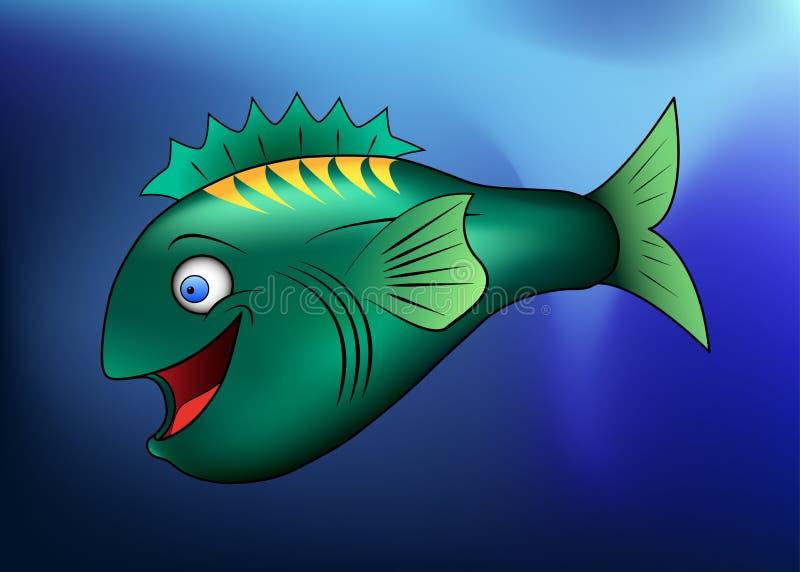 lycklig tecknad filmfisk arkivbild