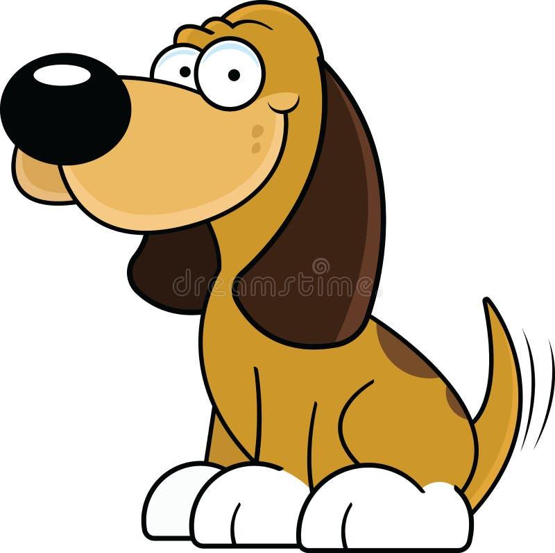 Lycklig tecknad filmhund arkivbilder