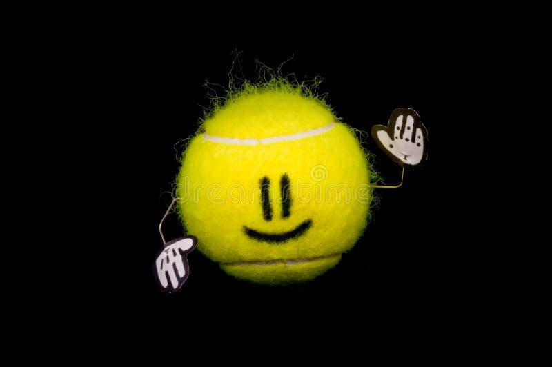 lycklig tennis för boll arkivfoton