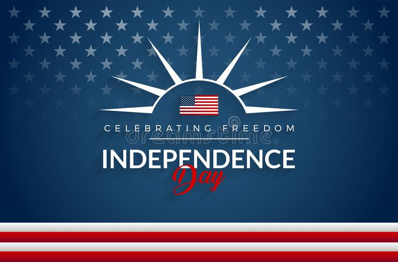 Lycklig 4th av bakgrund för Juli självständighetsdagenUSA flagga vektor illustrationer