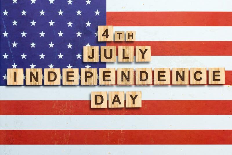 Lycklig 4th av Juli bakgrund SjälvständighetsdagenAmerikas förenta staterbakgrund Inskriften på bakgrunden av fotografering för bildbyråer