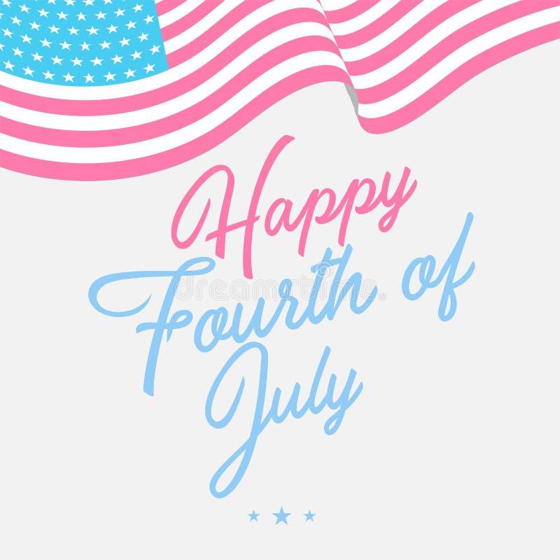 Lycklig 4th av Juli självständighet Day-05 stock illustrationer