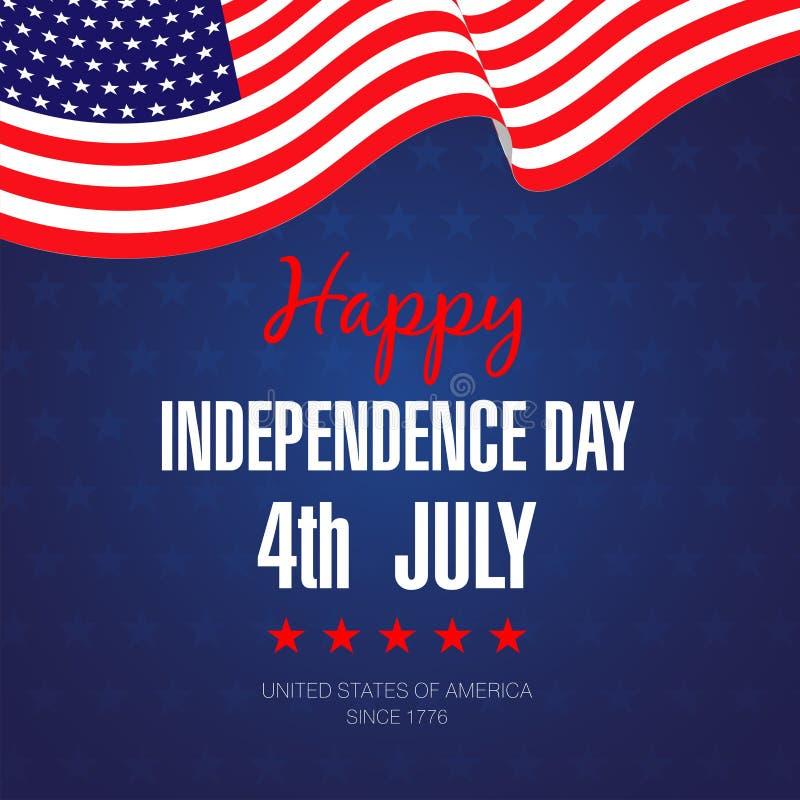 Lycklig 4th av Juli självständighet Day-09 stock illustrationer