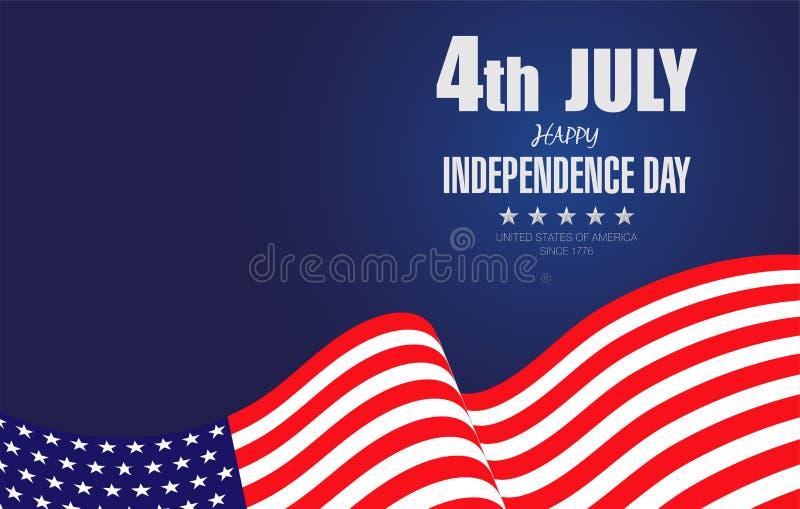 Lycklig 4th av Juli självständighet Day-02 royaltyfri illustrationer