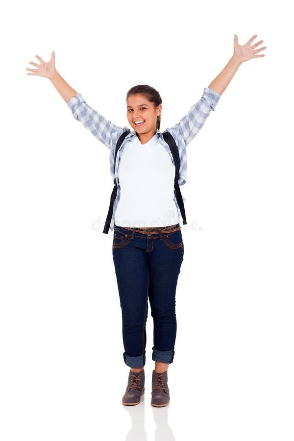Lycklig tonårs- flicka royaltyfri foto