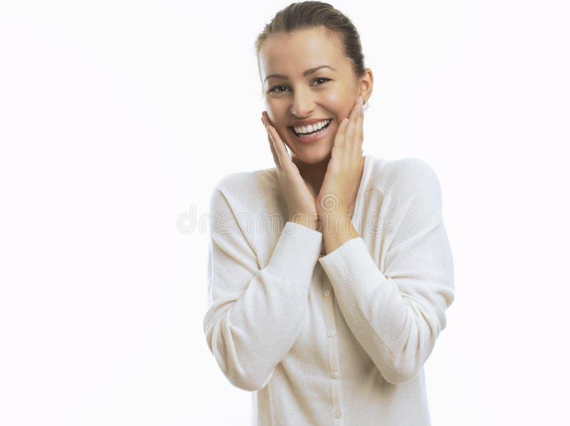 Lycklig ung kvinna arkivfoton