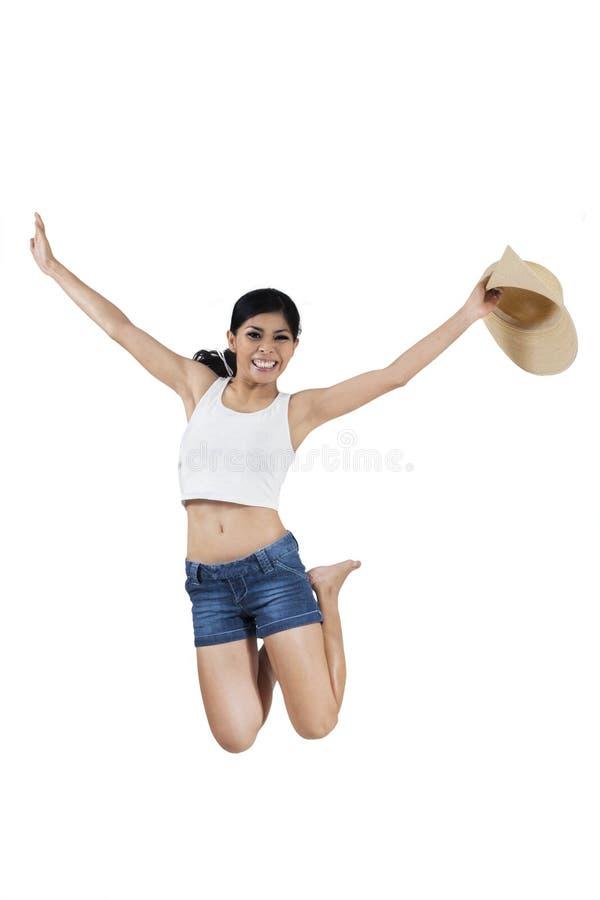 Lycklig ung kvinna arkivbilder