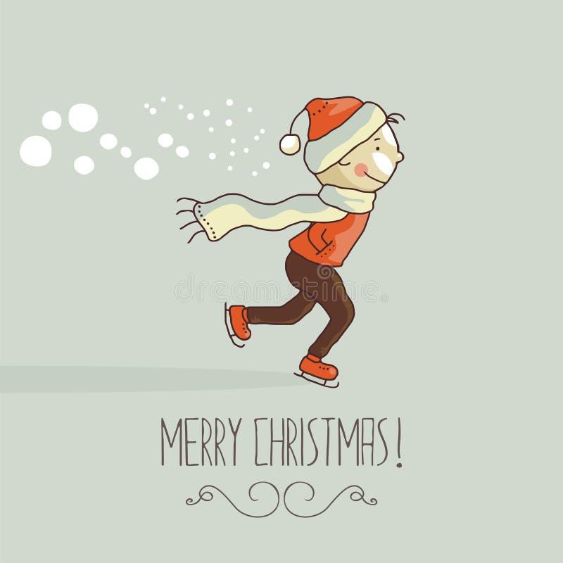 Lycklig unge för jul royaltyfri illustrationer