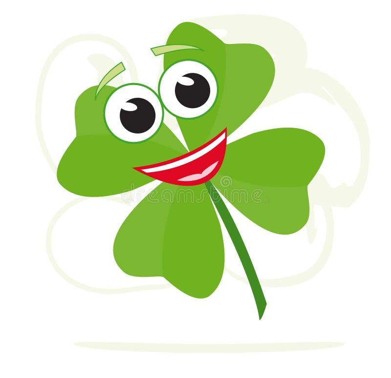 lycklig växt av släkten Trifolium stock illustrationer