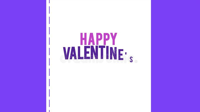 Lycklig valentindag med animeringkuvertet och bandförälskelse royaltyfri foto