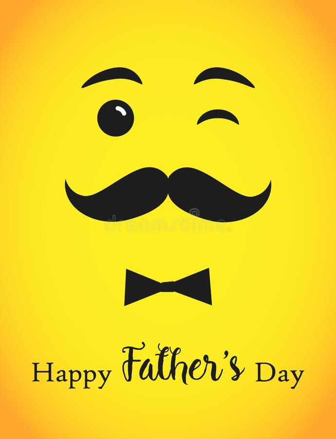 Lycklig vektor för dag för fader` som s märker marinblå bakgrund stock illustrationer