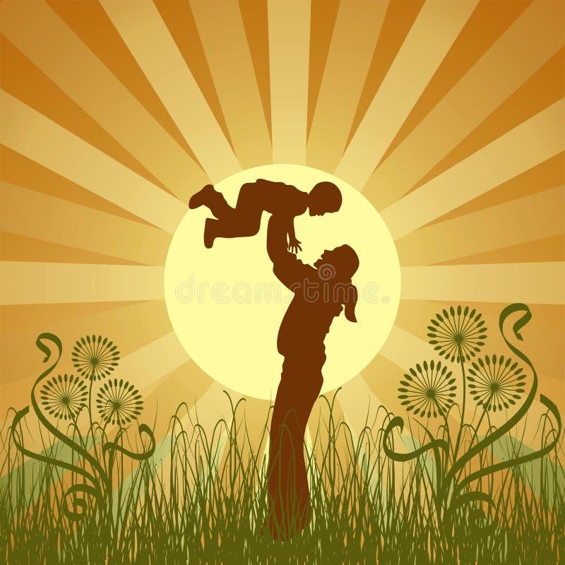 lycklig vektor för familj stock illustrationer